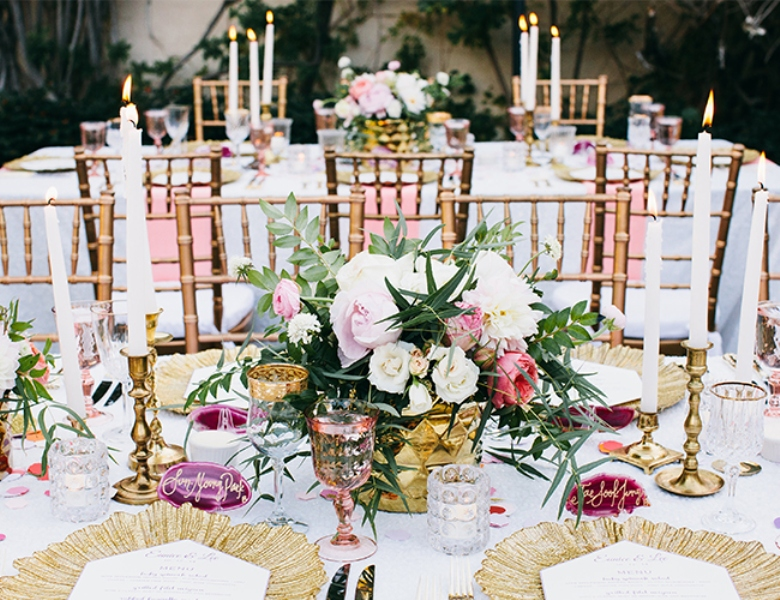Picture Of glamorous and vivid pink palm springs wedding  25