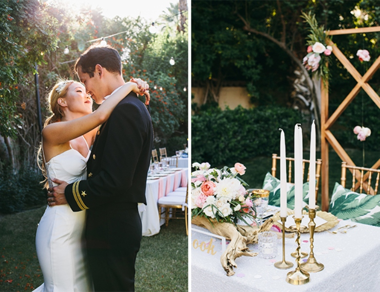 Picture Of glamorous and vivid pink palm springs wedding  26