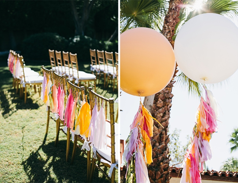 Picture Of glamorous and vivid pink palm springs wedding  4