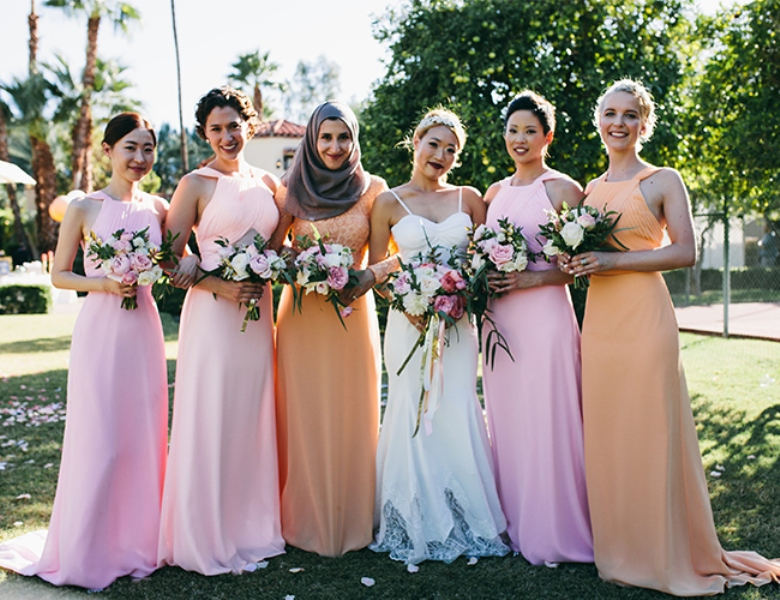 Picture Of glamorous and vivid pink palm springs wedding  9