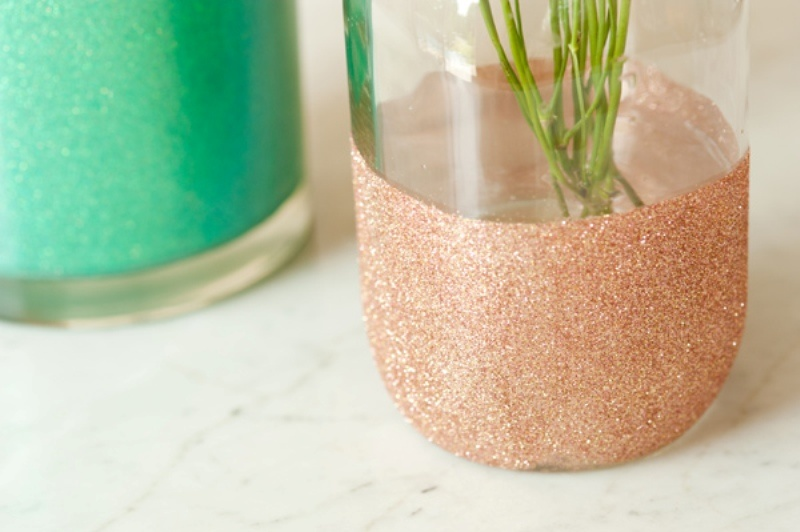 Picture Of Glamorous Diy Glitter Vases For Your Wedding Table Decor