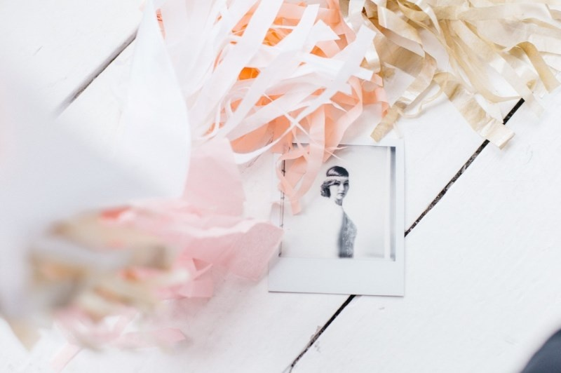 Picture Of glamorous pastel wedding inspiration with a hint of retro  1