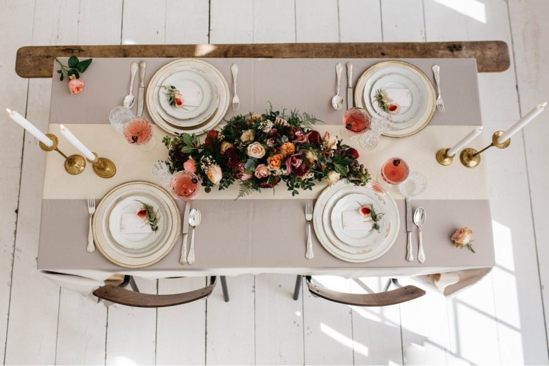 Picture Of glamorous pastel wedding inspiration with a hint of retro  11