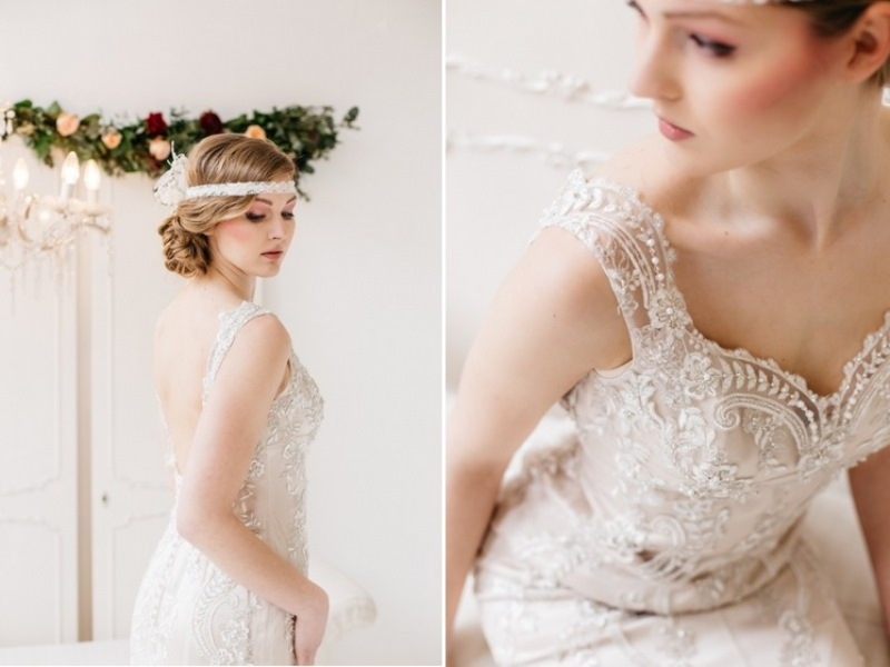 Picture Of glamorous pastel wedding inspiration with a hint of retro  2