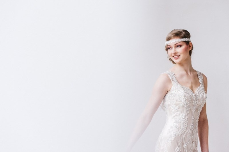 Picture Of glamorous pastel wedding inspiration with a hint of retro  3