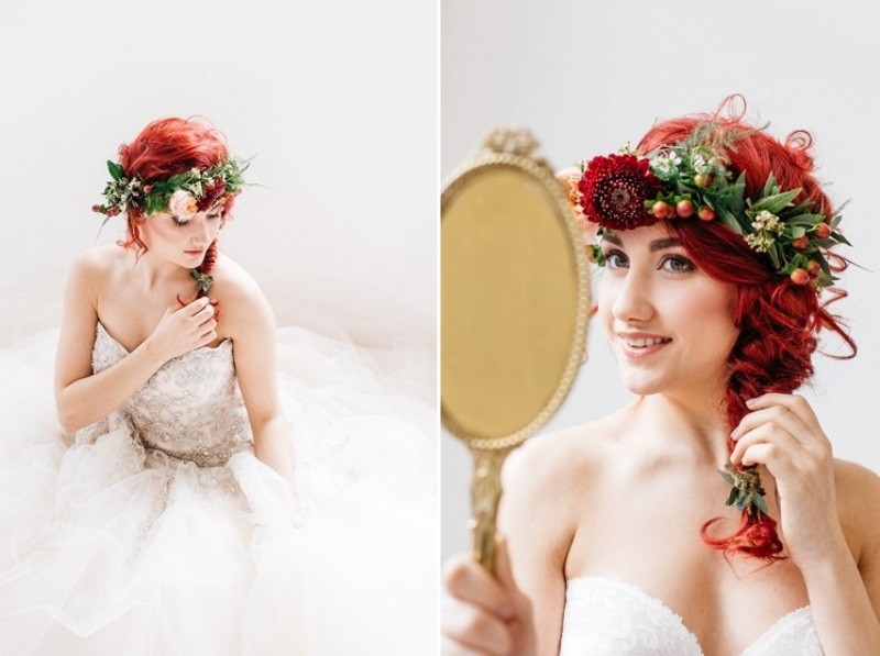 Picture Of glamorous pastel wedding inspiration with a hint of retro  6