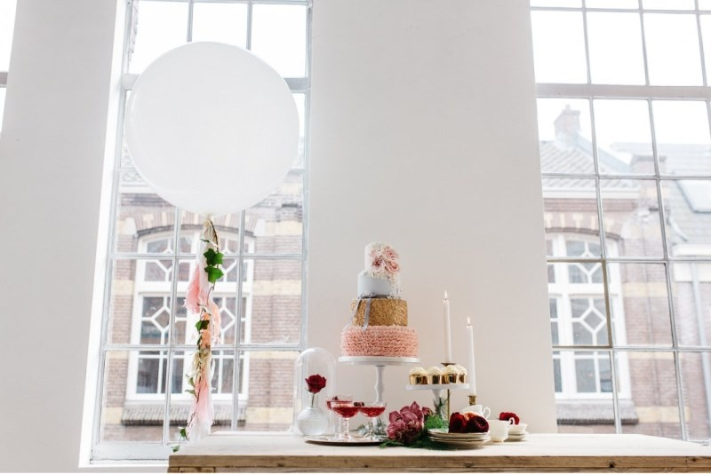 Picture Of glamorous pastel wedding inspiration with a hint of retro  8