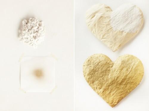 Gold Diy Sequin Heart As Your Glamour Wedding Decor Piece