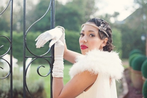 Golden 20s Great Gatsby Wedding Shoot