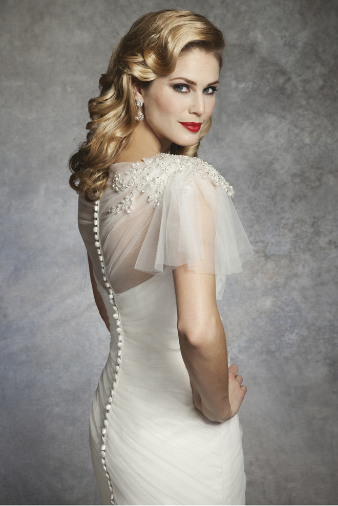 1930s and 1950s inspired gorgeous wedding dresses photo 11