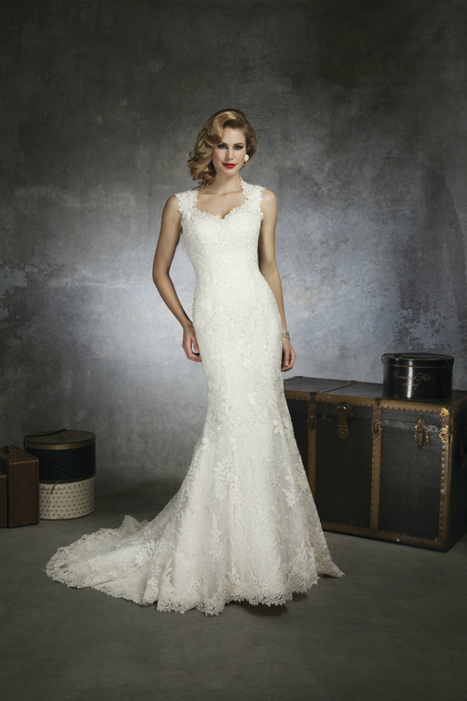1930s and 1950s inspired gorgeous wedding dresses photo 4