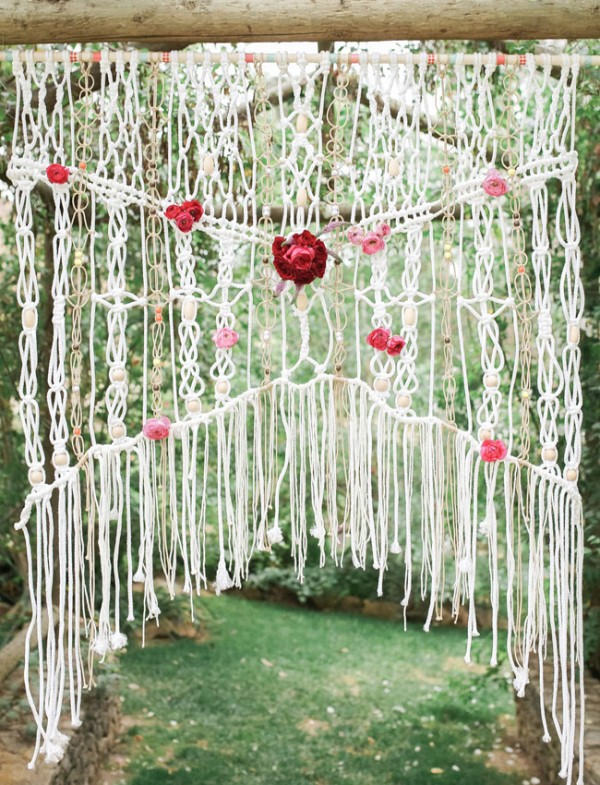 Picture Of gorgeous 1970s bohemian wedding inspiration in marsala tones  8
