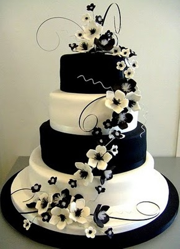 Wedding Cake Pictures Black And White 55