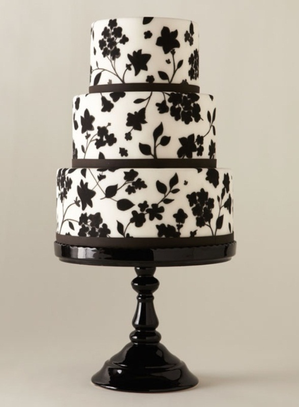Picture of gorgeous black and white wedding cakes junglespirit Image collections