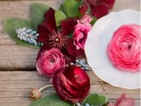 deep red blooms and greenery are perfect for bold fall wedding decor