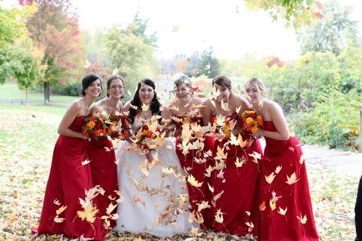 Gorgeous Fall Bridesmaids Dresses
