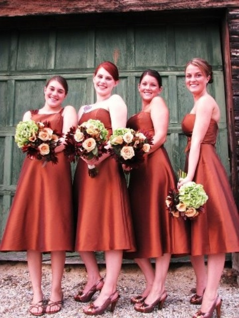 fall wedding bridesmaid dresses 34 gorgeous fall bridesmaids dresses weddingomania 4021