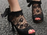 a cute gothic shoes for a halloween bride