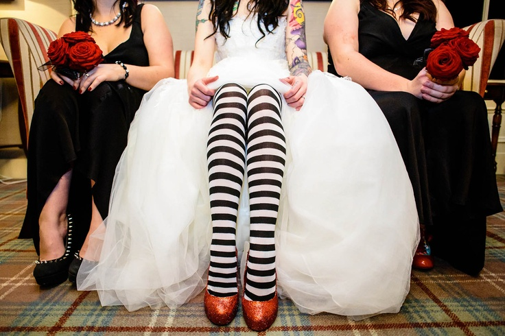 Gorgeous Halloween Wedding Shoes
