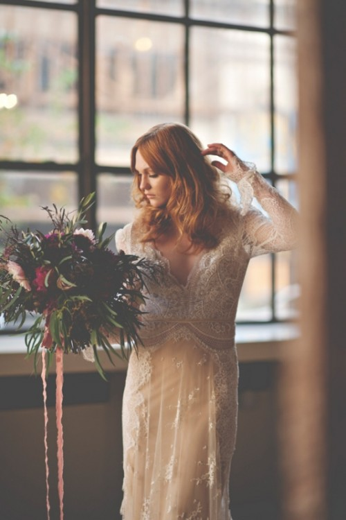 Gorgeous Industrial Fall Wedding Inspiration