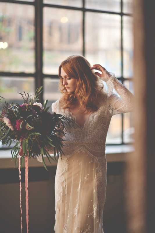 Picture Of gorgeous industrial fall wedding inspiration  1