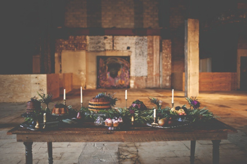 Picture Of gorgeous industrial fall wedding inspiration  12