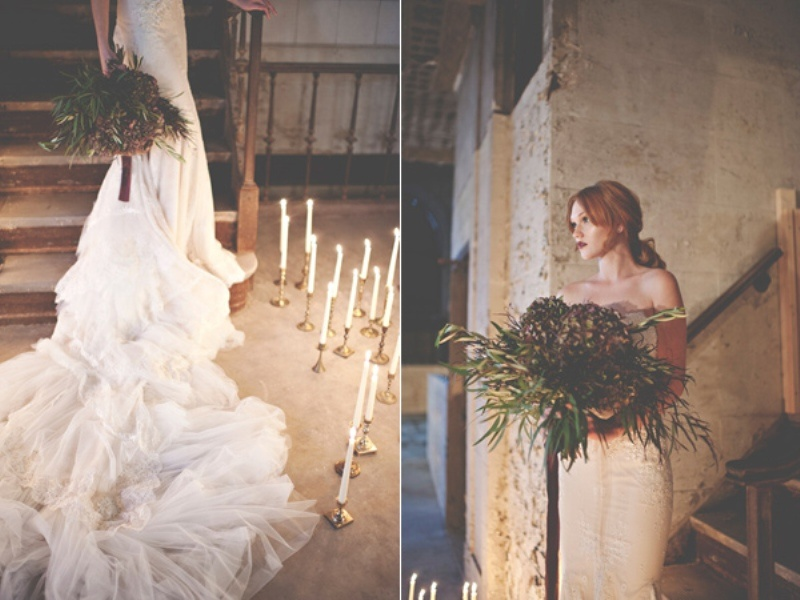 Picture Of gorgeous industrial fall wedding inspiration  17