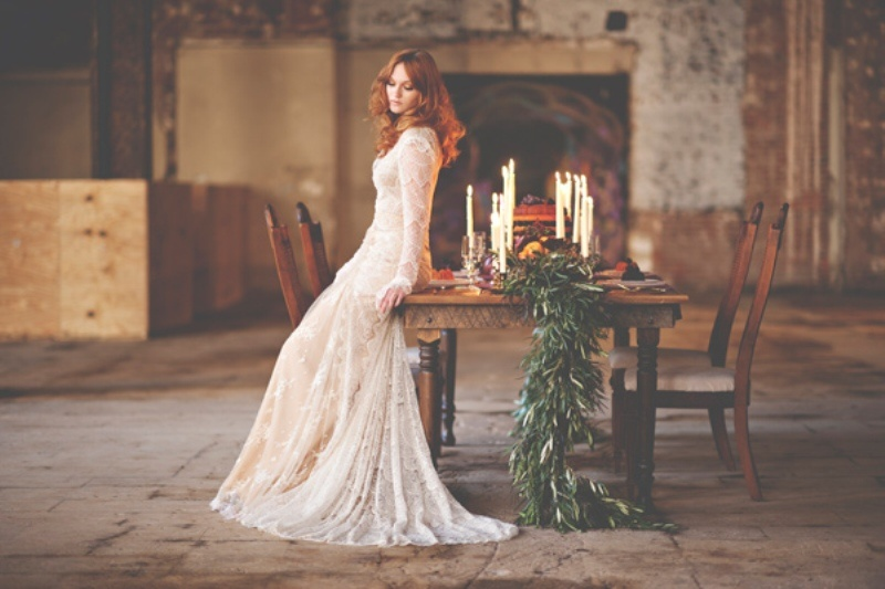 Picture Of gorgeous industrial fall wedding inspiration  6
