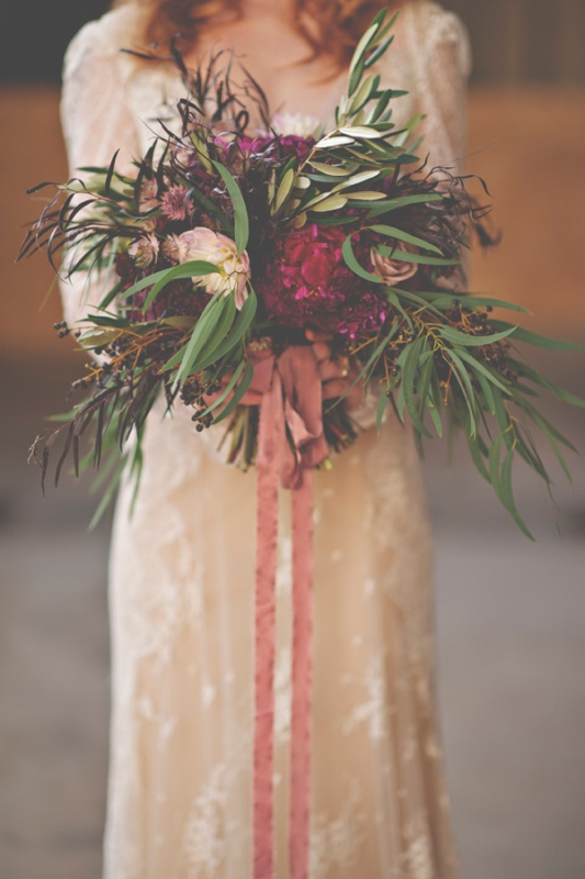 Picture Of gorgeous industrial fall wedding inspiration  7