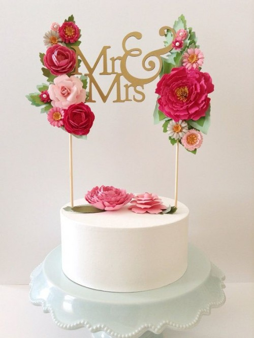 Gorgeous Statement Cake Toppers You'll Love