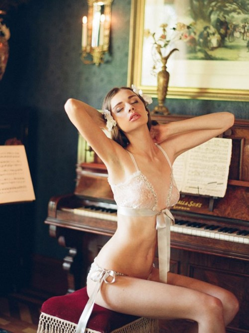 Gorgeous Bridal Vintage-Inspired Lingerie By Claire Pettibone