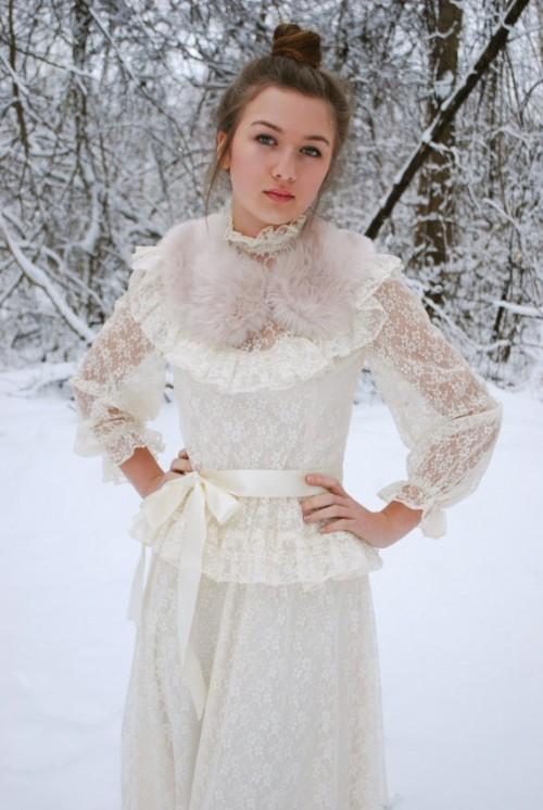 Старинные свадебные платья ошеломляющие и неописуемо красивы! . Кружево, с