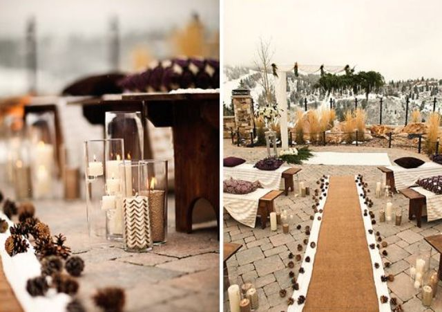 Gorgeous Winter Wedding Aisle Décor Ideas