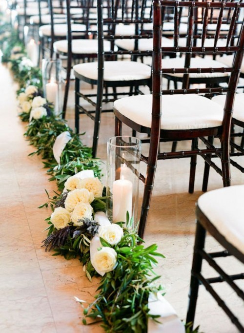 25 gorgeous winter wedding aisle d cor ideas weddingomania for Aisle decoration