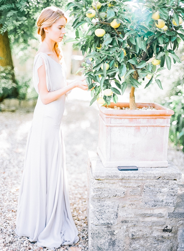 Picture Of gray and white garden wedding inspiration  1