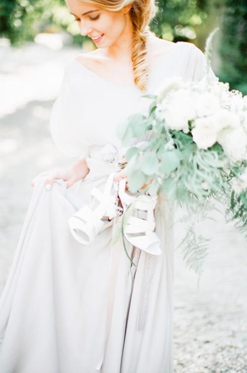 Gray And White Garden Wedding Inspiration