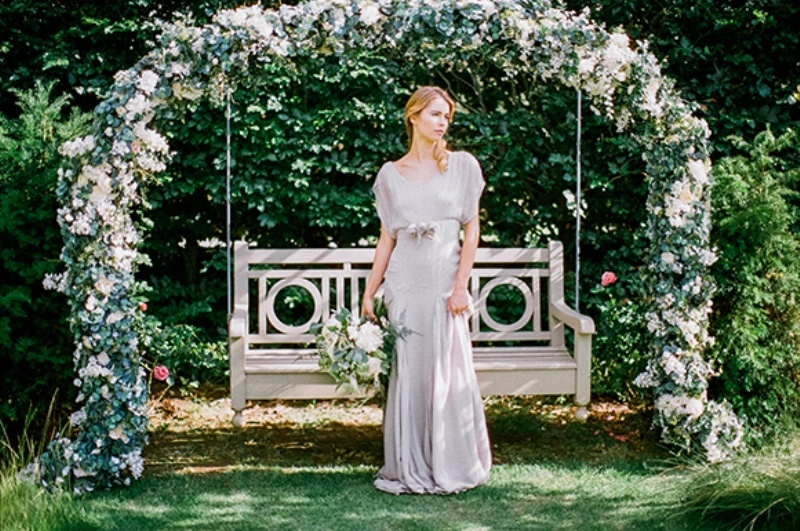 Picture Of gray and white garden wedding inspiration  11