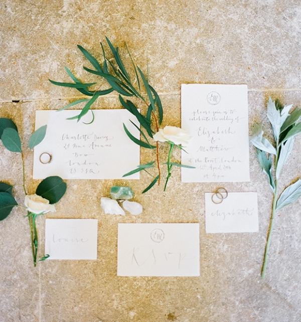 Picture Of gray and white garden wedding inspiration  13
