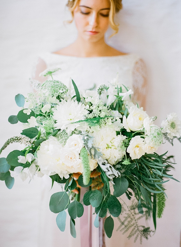 Picture Of gray and white garden wedding inspiration  18