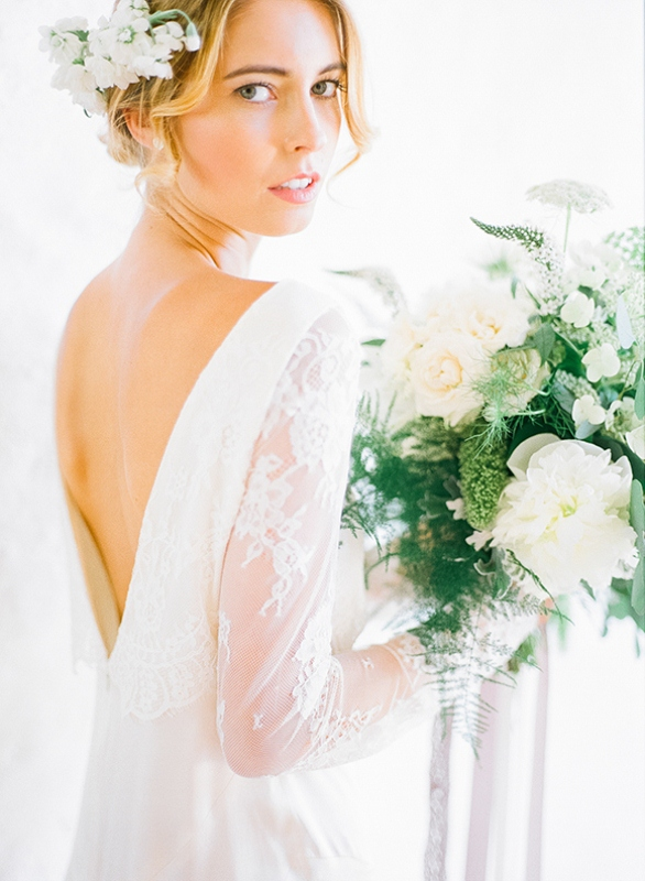 Picture Of gray and white garden wedding inspiration  2