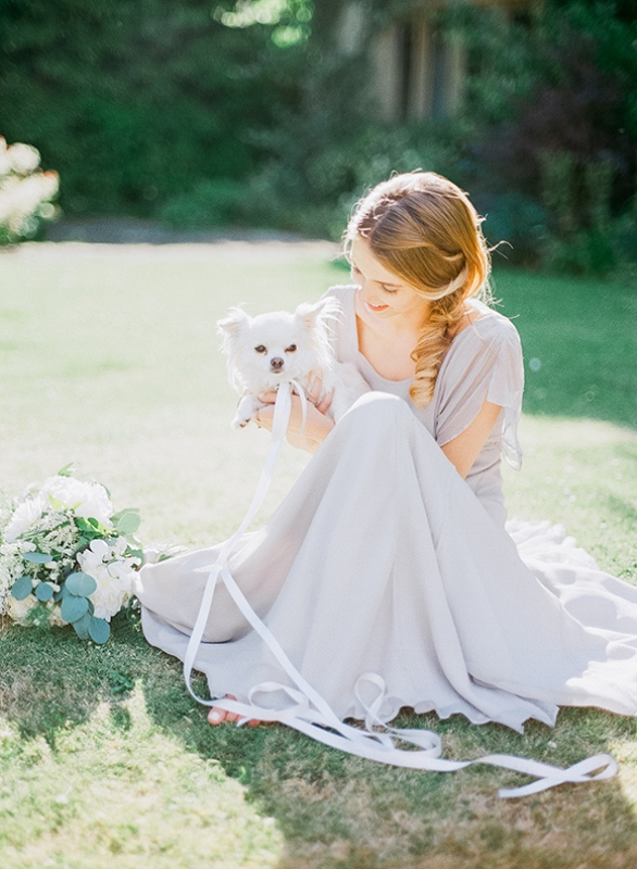 Picture Of gray and white garden wedding inspiration  20