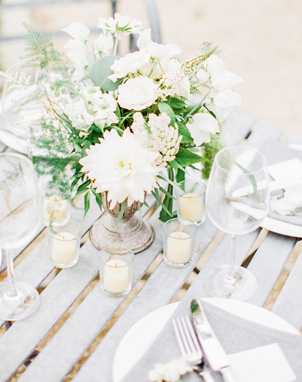Picture Of gray and white garden wedding inspiration  5