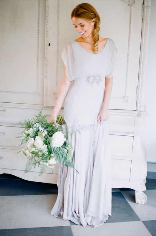 Picture Of gray and white garden wedding inspiration  6