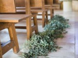 put lush greenery on the aisle to line it up in a natural way and even an indoor space will feel more like outdoors