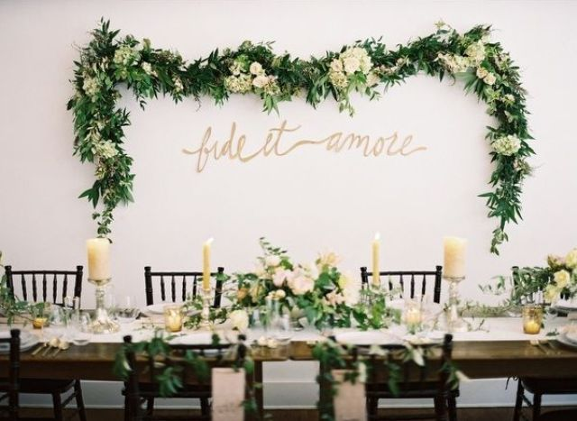 Picture Of greenery spring wedding decor ideas youll love  32