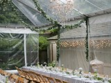 lush greenery garlands hanging in your venue will make your feel outdoors even if you are celebrating indoors