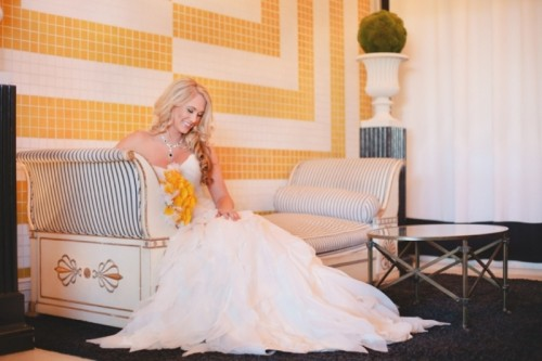Grey And Blue With Pops Of Yellow Wedding Decor Inspiration
