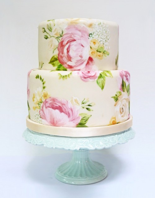 Hand Painted Wedding Cakes By Nevie Pie Cakes