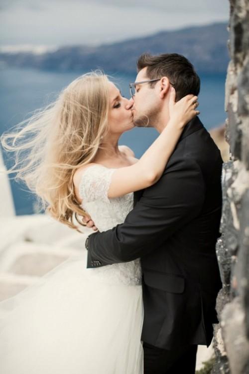 Heavenly Beautiful Destination Wedding In Santorini Greece