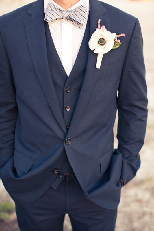 The Hottest 2014 Wedding Trend: 30 Navy Suits For Grooms ...
